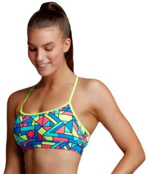 Funkita Crop Top Women's Swimming Top, UK 14 Get Jiggy