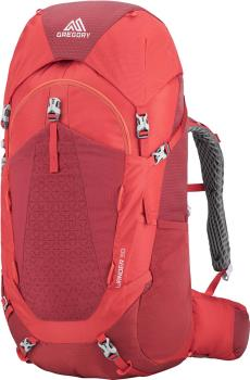Gregory Wander 50 Kid's Camping Adventure Backpack, 50L Fiery Red