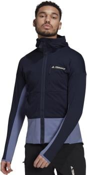 Adidas Terrex Zupahike Hooded Fleece Jacket, L Legend Ink