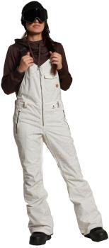 Volcom Swift Bib Overall Womens Snowboard/Ski Pants UK 10 Bone Snake