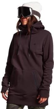 Volcom Womens Polartec Ridin Ski/Snowboard Hoody, Uk 8 Black Red