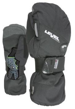 Level Half Pipe Gore-Tex Snowboard/Ski Mitts, M Black