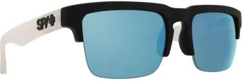 SPY Helm 50/50 HD Plus Grey/Blue Mirror Sunglasses, M/L Black/Clear