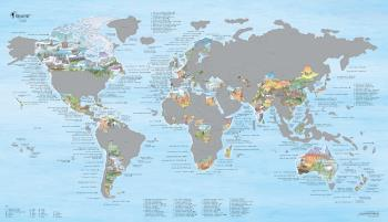 Awesome Maps Hiking Map Scratch Edition World Wall Map