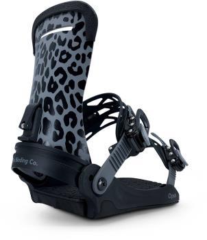 Fix Opus Snowboard Bindings, S/M Black Leopard 2021