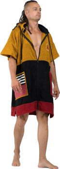 WAVE HAWAII Zip Poncho Change Robe Towel, Medium Dusty