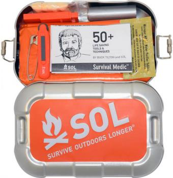 SOL Traverse Compact Outdoor Survival Kit, Silver