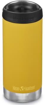 Klean Kanteen Insulated TKWide Cafe Cap Water Bottle, 355ml Marigold