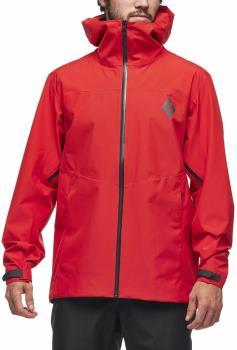 Black Diamond Liquid Point Shell Waterproof Jacket, XL Hyper Red
