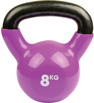 Fitness Mad Vinyl Kettlebells/Weight, 8KG Purple