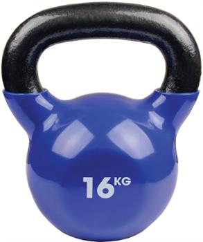 Fitness Mad Vinyl Kettlebells/Weight, 16KG Blue