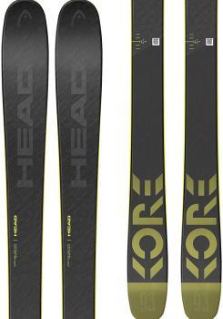 Head Kore 93 Ski Only Skis, 171cm Grey/Yellow 2021