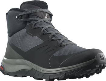 Salomon OUTsnap CSWP Waterproof Hiking Boots, UK 8 Black/Urban Chic