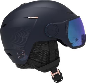 Salomon Icon LT Visor Blue Women's Snowboard/Ski Helmet, M Wisteria