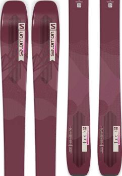 Salomon QST Lux 92 Ski Only Skis, 161cm Bordeau/Pink 2022