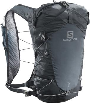 Salomon XA 15 Waterproof Hiking Backpack, 15L M/L Ebony/Black