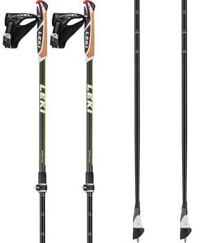 Leki Smart Supreme Adjustable Nordic Walking Poles, 100-130cm Black