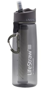 Lifestraw Go Travel Water Filter Bottle, 1L Grey
