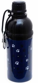 Long Paws Lick N Flow Stainless Steel Dog Water Bottle, 500ml Navy