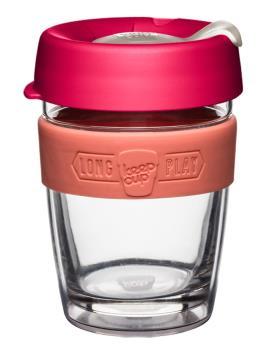 KeepCup Longplay Glass Reusable Tea/Coffee Cup, 12oz Amaryllis