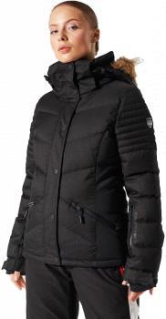 Superdry Luxe Snow Puffer Women's Ski/Snowboard Jacket, UK 10 Black