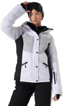 Superdry Luxe Snow Puffer Women's Ski/Snowboard Jacket, UK 12 White