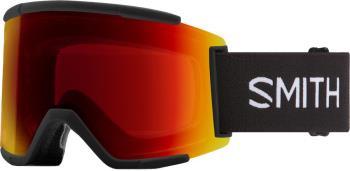 Smith Squad XL CP Sun Red Mirror Snowboard/Ski Goggles M/L Black