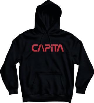 Capita Mars 1 Pullover Fleece Hoodie, S Black