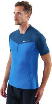 Montane Dragon Zip Technical Short Sleeve T-shirt, M Electric Blue