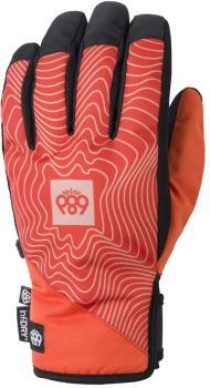686 Ruckus Pipe Ski/Snowboard Gloves, L Solar Orange