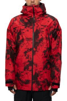 686 Gore-Tex Hydrastash Sync Snowboard/Ski Jacket, M Red Tie-Dye