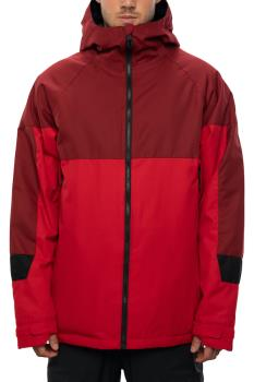686 Static Insulated Snowboard/Ski Jacket, L Red Colorblock