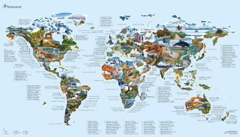 Awesome Maps Mountain Bike Map Cycle Trails World Wall Map