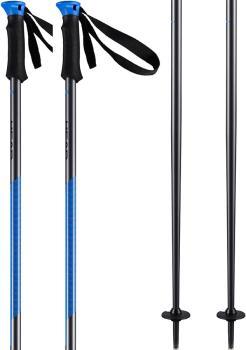 Head Multi S Ski Poles, 120cm Anthracite/Neon Blue