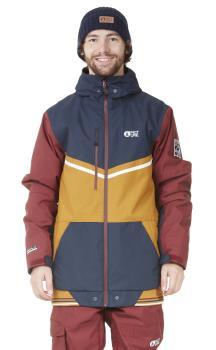 Picture Panel Ski/Snowboard Jacket, M Camel/Dark Blue