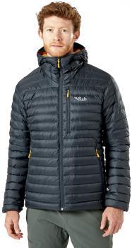 Rab Microlight Alpine Hooded Insulated Down Jacket, XL Beluga