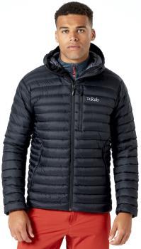 Rab Microlight Alpine Hooded Insulated Down Jacket, M Black