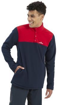 Kathmandu Pelorus Insulated Pullover/Fleece, XL Midnight/Chilli