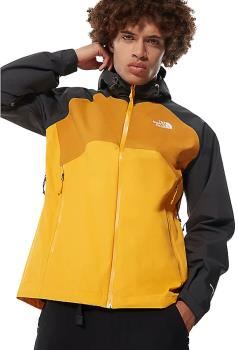 The North Face Stratos Waterproof Hiking Shell Jacket, S Gold/Black