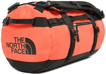 The North Face Base Camp XS Duffel Travel Bag, 33L Flare/TNF Black