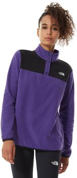 The North Face Womens Tka Glacier Snap-Neck Women's Pullover, Uk 12 Purple