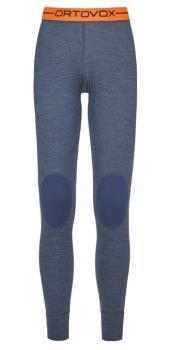 Ortovox Womens Rock'N'Wool Women's Long Thermal Pants, L Night Blue Blend