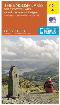 Ordnance Survey Explorer OL04 The English Lakes, NW Area Map