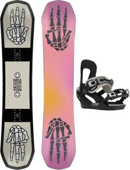 Bataleon Stuntwood Hybrid 3BT Camber Kids Snowboard Set, 130cm | S 2021