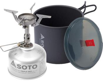 Soto New River Pot Combo + Amicus Backpacking Stove Cookset, 1L