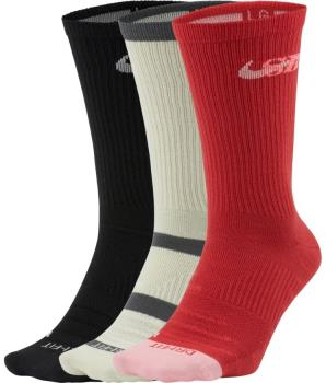 Nike SB 3PK Everyday Max Lightweight Crew Socks, M Pastel Multi