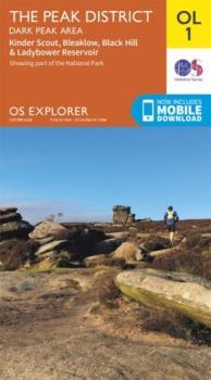 Ordnance Survey Explorer OL01 Peak District, Dark Peak Area Map