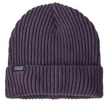 Patagonia Fisherman's Rolled Beanie Cuffed Beanie Hat, OS Purple