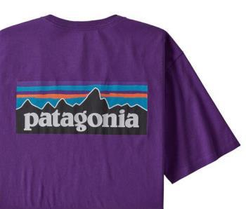 Patagonia P-6 Logo Organic T-Shirt, M Purple