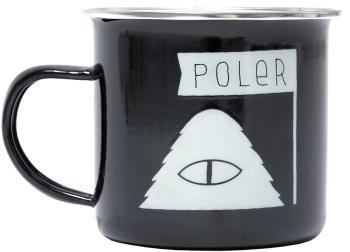 Poler Camp Mug Classic Enamel Camping Cup, 414ml Black